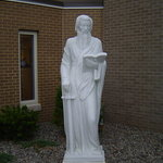 Stone statue of St Paul