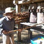 moagem da cana para produção de rapadura