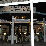 Restaurant from outdoor seating area