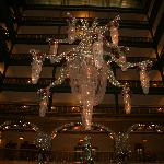 The amazing chandlier in the Atrium