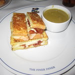 Grilled Cheese Sandwich w/ Split Pea Soup