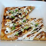 chorizo and avocado flatbread pizza