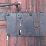old lock and doorhandle