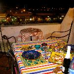 Nuestra cena en la terraza (Our Dinner on the terrace)