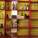 estanteria del bar