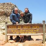 Man! this was a windy moment at the Cape of Good Hope.