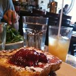 Eggbread French toast.  Yum.  Too bad drink was a two gulper.