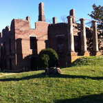 The ruins - Governor Barbour's mansion designed by Thomas Jefferson