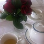 Local roses & the good china!