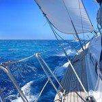 Open waters, sun, sea, sails.....