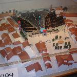 Modell der Arena für die Fête des Vignerons 1999