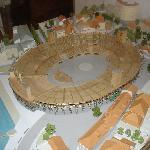 Modell der Arena eines früheren Fête des Vignerons