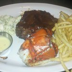 Surf & Turf - ribs and lobster