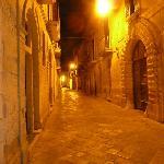 Via Prioli at night