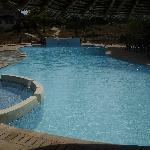 very clean pool