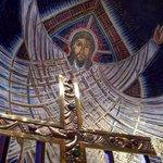 The massive mosaic of the risen Christ