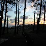 puesta del sol desde el apart