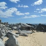 Rock Formations down beach area
