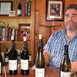 the owner with some of his wines