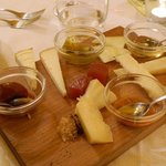 The organic cheese plate
