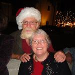 Santa Gibbs and Peg