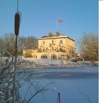 Vale of the White Horse Inn in the snow