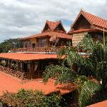 Restaurant terrace and reception on top floor
