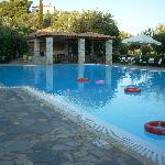 The pool is enormous and is equipped with a bar and taverna.