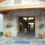 The main entry to reception is open to the outside and very inviting