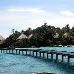 wiev from the water bungallows
