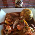 mofongo camarones (shrimp)