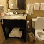 Bathroom in room - a little small