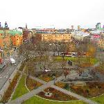 View from our room over Stockholm - BY DAY