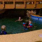 This is the pool, the kids only stayed in for a couple mins b/c it was so cold and dark