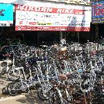 Directly opposite hotel - great place for bicycle rental