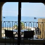 View onto the balcony & outside