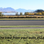 The view from your suite at Lakeview Tekapo