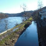 View along the canal at Lumberville