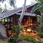 Banyan Suite in the evening at Tamarind Springs Tropical Villas