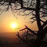 a stunning African sunset...