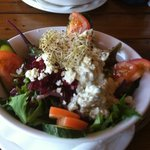 Greek chicken salad - highly recommended!!