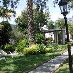 Teil des Gartens vor unserem Cottage im Gubas de Hoek