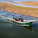 embarcado en la Laguna