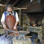 The blacksmith making nails