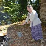 Making applebutter over the fire