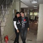me and cristy at the lobby