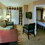 The Queen Suite has a separate bedroom and 2 TVs
