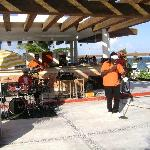 Reggae band at pool