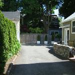 Free offstreet parking and backyard deck