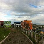Temauken: das orange Gebäude rechts im Bild